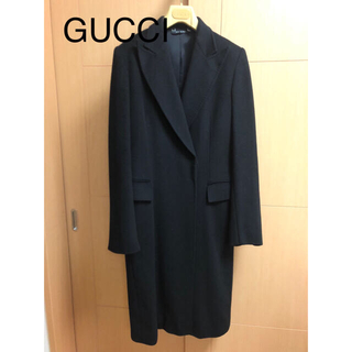 グッチ(Gucci)のGUCCI ロングコート カシミヤ シルク混 サイズ38(ロングコート)