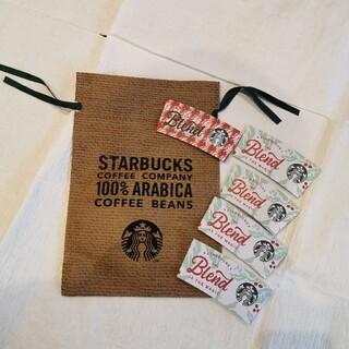 スターバックスコーヒー(Starbucks Coffee)のスターバックス ノベルティ クリスマス カップホルダー タンブラー袋(日用品/生活雑貨)