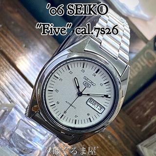 セイコー(SEIKO)の06年製 セイコー5 OH済 自動巻時計 ホワイトダイヤル  シースルーバック(腕時計(アナログ))