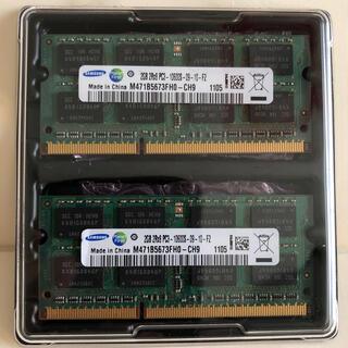 サムスン(SAMSUNG)の【中古】サムスン ノートPC用メモリ 2GBx2(ノートPC)