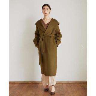 スピックアンドスパン(Spick and Span)のSailor wool coat (khaki) ハンドメイド(ロングコート)