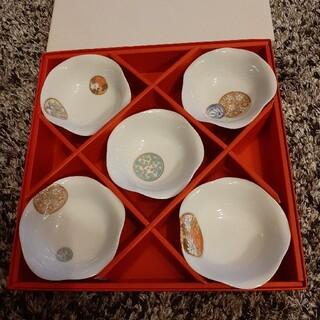 深川製磁 小皿5枚 寿赤絵