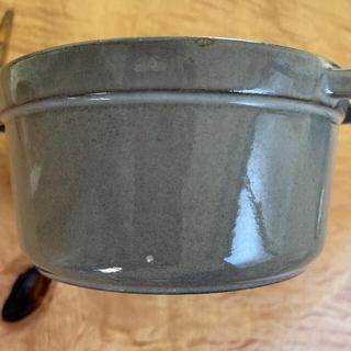 ストウブ(STAUB)のストウブ ピコ ココットラウンド グラファイトグレー 16cm(鍋/フライパン)