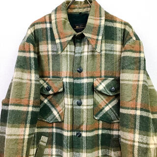 ウールリッチ(WOOLRICH)の70s USA製 JC Penney CPO チェックシャツジャケット ボア(ブルゾン)