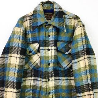 サンタモニカ(Santa Monica)の70s USA古着 Sears CPO シャツジャケット シアーズ チェック L(ブルゾン)