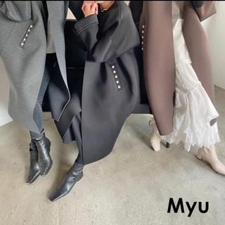 ZARA - myu 新作★ポケットパールボンディングコート ブラック