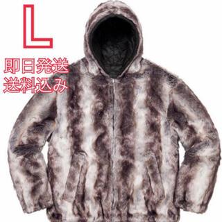 シュプリーム(Supreme)の666様 再再出品 Supreme faux fur hooded jacket(ブルゾン)