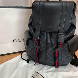 Gucci - GUCCI ソフト GGスプリーム キャンバス バックパック