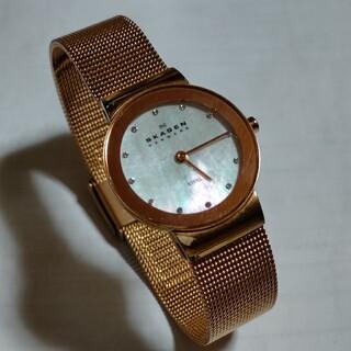 スカーゲン(SKAGEN)の美品 SKAGEN スリム腕時計 デンマーク製 スカーゲン メンズ レディース(腕時計)