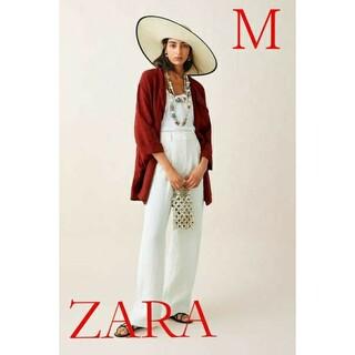 ザラ(ZARA)の値下げ‼️新品未使用品【ZARA】リネンジャケット(ノーカラージャケット)