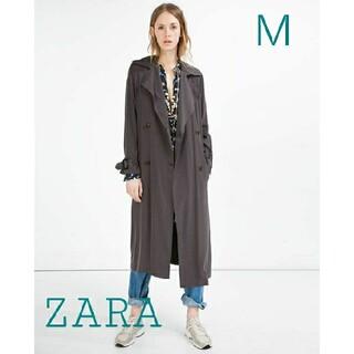 ザラ(ZARA)の【ZARA】フルイド トレンチコート Mサイズ(トレンチコート)