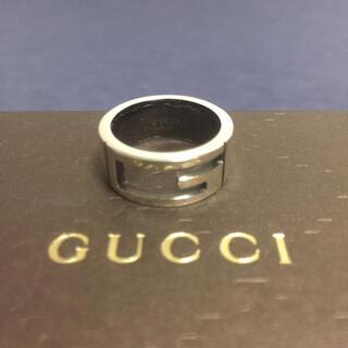 Gucci - GUCCI 12号 ブラックコーティング ブランデッドリング