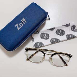 Zoff - Zoff クラシック べっ甲 ウェリントン ブラック シルバー ユニセックス