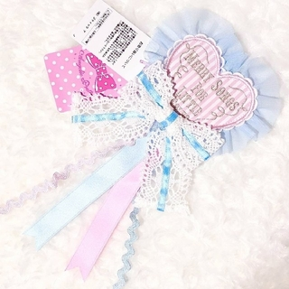 Angelic Pretty - 【新品】MELODY TOYSハートワッペンブローチ(ピンク)