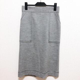 トゥモローランド(TOMORROWLAND)のトゥモローランド MACPHEE ウールジャージータイトスカート(ひざ丈スカート)