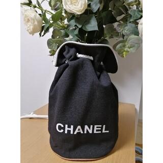 CHANEL - 新品 CHANEL リュックサック 巾着 ノベルティ ブラック キャンバス