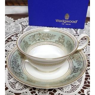WEDGWOOD - ウェッジウッド コロンビアセージグリーン カップ&ソーサー 1客