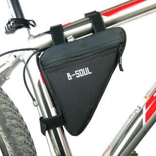 B-SOUL 自転車 トライアングルバッグ 黒 ロードバイク クロスバイク(バッグ)