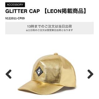 パーリーゲイツ(PEARLY GATES)のv12 ヴィトゥエルブ GLITTER CAP 【LEON掲載】キャップ 金(ウエア)