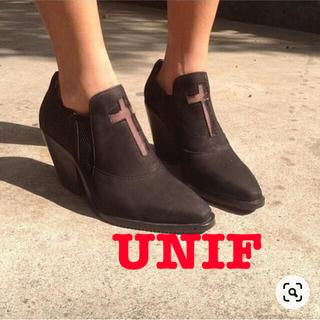 ユニフ(UNIF)のUNIF Clothing CONFESSION BOOT クロススエードブーツ(ブーツ)