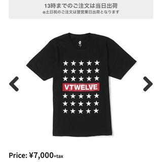 パーリーゲイツ(PEARLY GATES)のv12 ヴィトゥエルブ STAR LINE 半袖Tシャツ XL(ウエア)