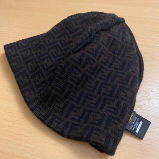 FENDI - FENDI ズッカ柄 ニットキャップ ニット帽 ビーニー イタリア製