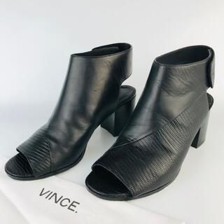 ビンス(Vince)のVINCE・ビンズ★型押 切替 レザー  ブーツ サンダル(36)(ブーツ)