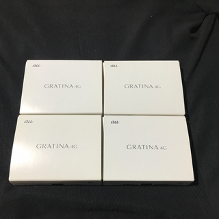 京セラ - GRATINA 4G au kyf31 ホワイト ガラホ SIMロック解除