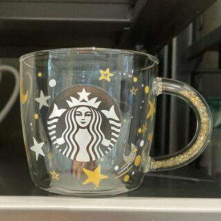 Starbucks Coffee - STARBUCKS ホリデー2020ビーズハンドル耐熱グラスマグスター296ml