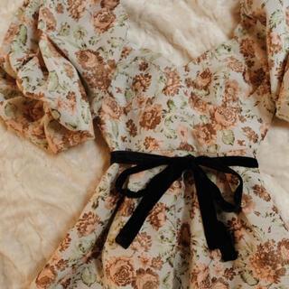 Jacquard flower occasion dress♡(ロングワンピース/マキシワンピース)
