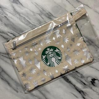 Starbucks Coffee - スターバックス ホリデー ポーチ シルバー