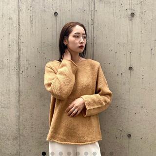 nugu whim alpaca boat knit beige(ニット/セーター)