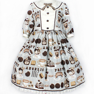 Angelic Pretty - angelic pretty Cream Cookie Parade OPグレー