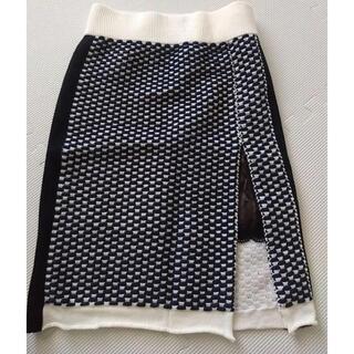 サカイラック(sacai luck)のsacai luck ニットスカート(ひざ丈スカート)