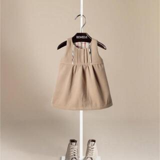 ラルフローレン(Ralph Lauren)の韓国服 チェック ワンピース  バーバリー キッズ  韓国こども服(ワンピース)