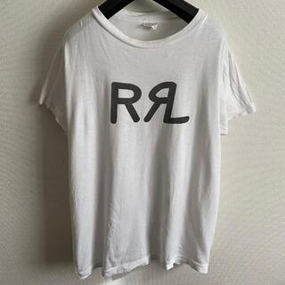 ダブルアールエル(RRL)のRRL ダブルアールエル Tシャツ 半袖 ホワイト 白 Tシャツ L ロゴ(Tシャツ/カットソー(半袖/袖なし))