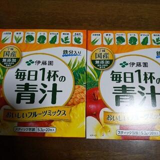 イトウエン(伊藤園)の伊藤園 青汁 フルーツミックス3箱/5.3g×60本(青汁/ケール加工食品)