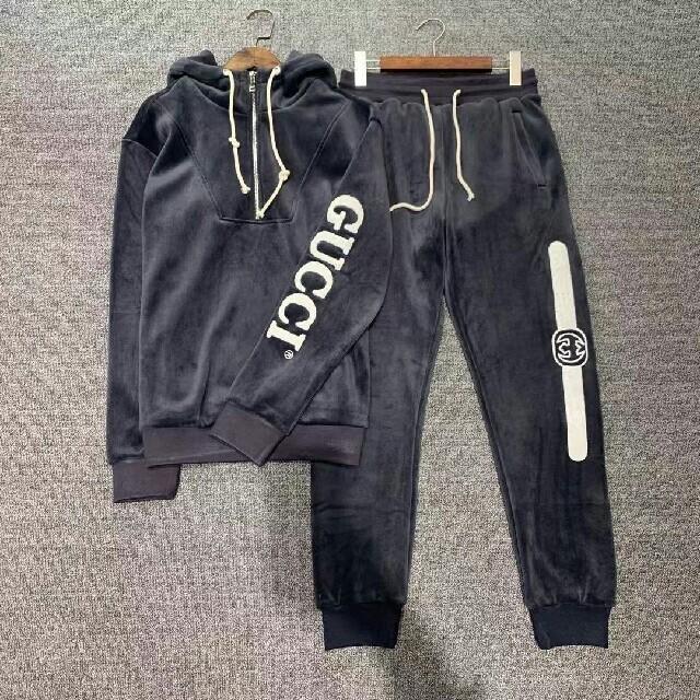 Gucci(グッチ)の20AW【グッチ】ロゴ プリント コーデュロイ スウェットセット メンズのトップス(スウェット)の商品写真