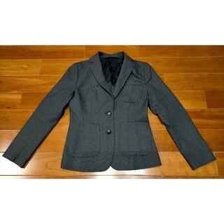 スーツカンパニー(THE SUIT COMPANY)の美品送料込スーツカンパニーMグレー ウールシルクテーラードジャケット(テーラードジャケット)
