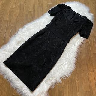 DOLCE&GABBANA - 本物 極美品 ドルチェ&ガッバーナ フローラルレース 半袖 ワンピース ドレス