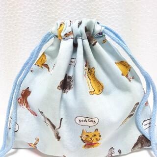 猫柄 コップ袋(外出用品)