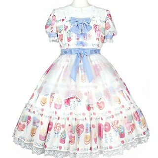Angelic Pretty - angelic pretty Sugar Candy Shop ワンピ 白