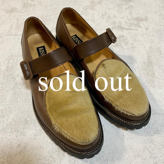 エンダースキーマ(Hender Scheme)の革靴 ヴィンテージ ハラコ素材 古着 Unborn Calf(スニーカー)