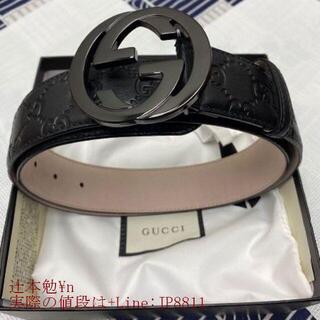 Gucci - グッチ 大人気 ダブルGバックル レザー ベルト 3.8 cm幅