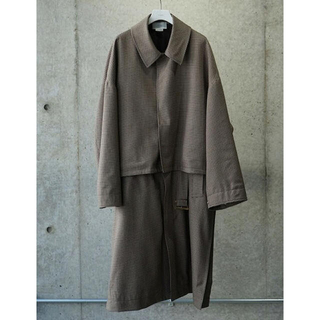 SUNSEA - yoke 3WAY BAL COLLAR SHARE COAT