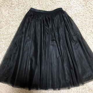 アプワイザーリッシェ(Apuweiser-riche)の❤︎アプワイザーリッシェ チュールスカート 黒❤︎(ひざ丈スカート)