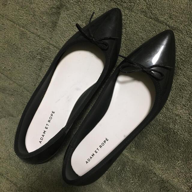Adam et Rope'(アダムエロぺ)のアダムロエペ レインパンプス 黒  37 23.0〜23.5 レディースの靴/シューズ(ハイヒール/パンプス)の商品写真
