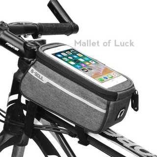 自転車 フレームバッグ トップチューブバッグ フロント サドル スマホ 収納(バッグ)