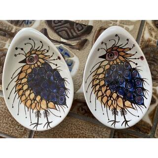 ロイヤルコペンハーゲン(ROYAL COPENHAGEN)のロイヤルコペンハーゲン テネラ アルミニア 鳥の小皿(陶芸)