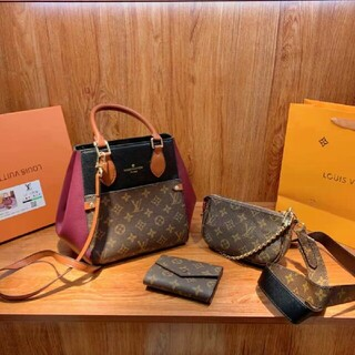 LOUIS VUITTON - LVの超価値3着のハンドバッグ+麻雀バッグ+財布
